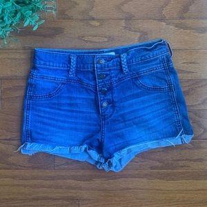 Hollister Denim Blue High Waisted Shorts
